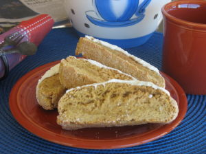 Autumn in Tucson: Pumpkin biscotti