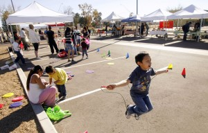Farmers market adds exercise and health info