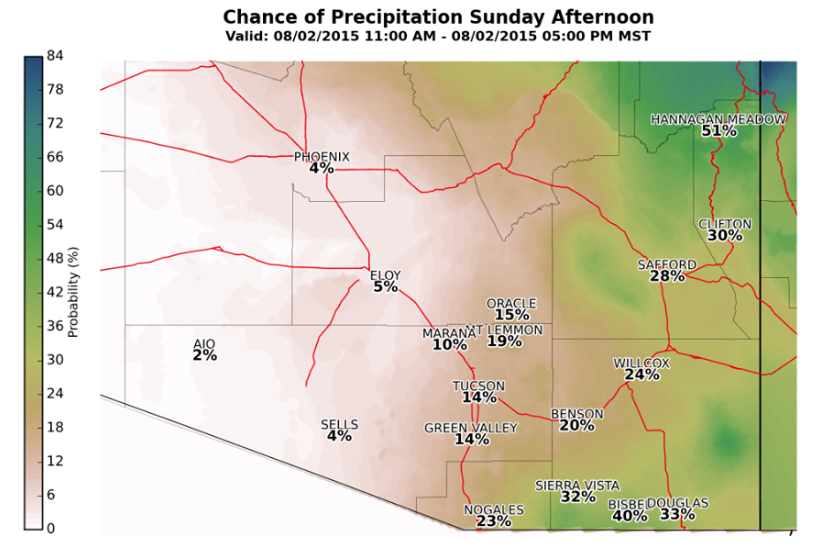 Tucson weather: Stray showers possible