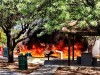Fire engulfs playground area in Catalina