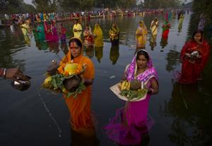 Photos: Hindu festival Chhath Puja in India