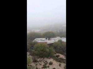 Fog shrouds Tucson