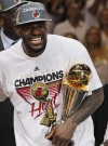LeBron James leads Heat to NBA title