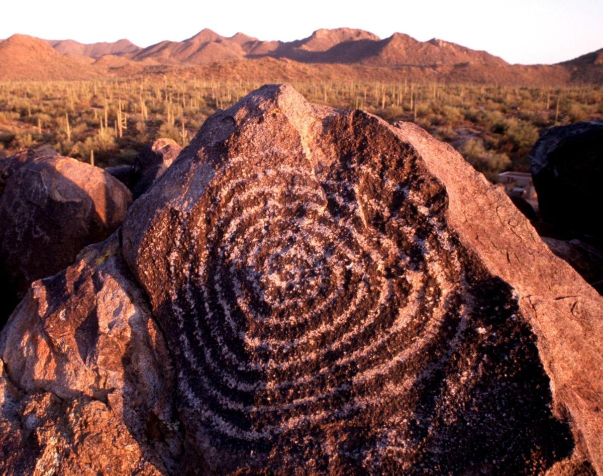 Spiral petroglyph at Signal Hill