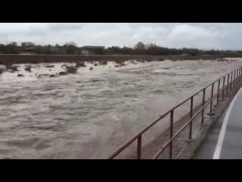 Watch: Rillito River churns through Tucson