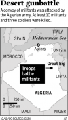 Clash in Algerian Sahara kills 10 militants, 3 troops