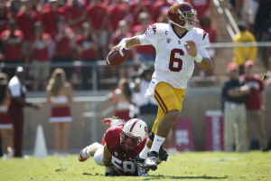 USC escapes tumult to visit Boston College