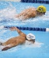 US Olympic swimming trials: Michael and Missy Show