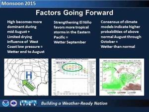 Monsoon 2015 Halftime Report and Look Ahead for Southeast Arizona