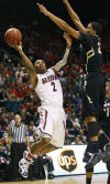 Pac-12 men's basketball tournament No. 18 Arizona 79, Colorado 69 Buffs out; Bruins next