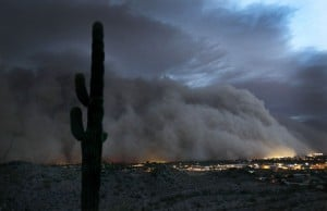 100-mile-wide dust storm is the talk of Phoenix