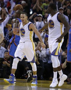 Warriors ganan a Thunder tras lesión de Durant