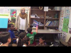 Children learn about Ramadan with arts and crafts