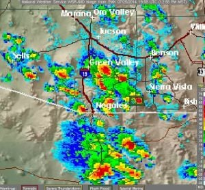 Severe thunderstorm warning issued for near Green Valley