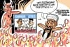 Daily Fitz Cartoon: Osama in Hell