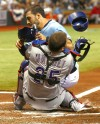 Baseball notebook: Napoli sent flying, is OK after collision