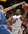 Arizona Wildcats basketball UCLA 39, Arizona 29 at half