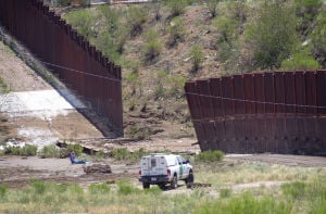 Storms knock down border fence section in Nogales