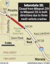 Map: Interstate 10 closed near Picacho Peak