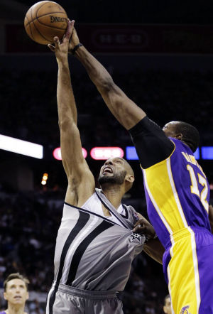 NBA Playoffs Game 1: Spurs 91, Lakers 79: Out of reach early