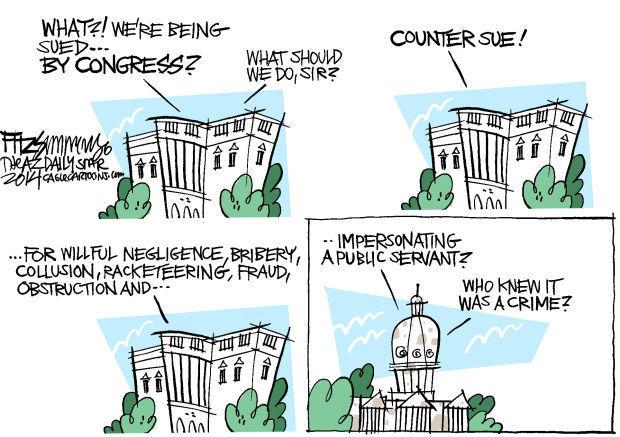 Daily Fitz Cartoon: So sue me