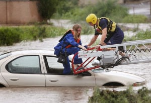 Photos: Water rescue in east Tucson