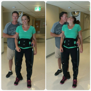 Video: Ex-Cat Amy Van Dyken walks again after crash
