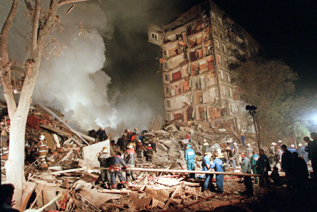Apartment Buildings Bombed In Moscow