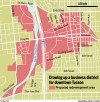 Proposed downtown district hinges on boundaries
