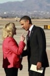 Heated chat with Brewer marks Obama's Arizona arrival