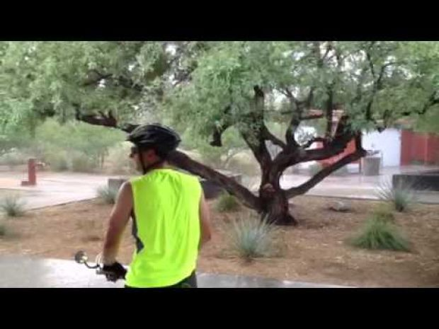 Monsoon cloudburst at Rillito River Park