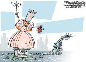 Daily Fitz Cartoon:New Statue of Liberty