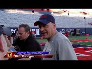 Watch: RichRod talks expectations for spring ball
