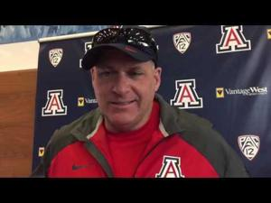 Watch: RichRod discusses QB progress, plans for coaching staff