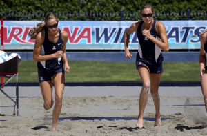 Witts' sister act a highlight of UA's first sand volleyball season