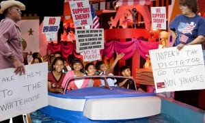 "Fitz: Anti-Immigration protesters overrun ""It's a Small World"" ride at Disneyland"