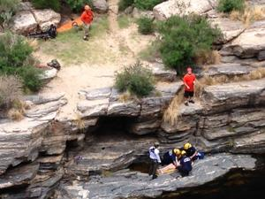 Teen hits ledge, not water, in Sabino cliff jump