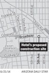 Hotel's proposed construction site