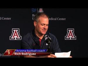 Watch: RichRod talks about Arizona's injuries