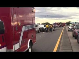 I-10 crash at Orange Grove Road
