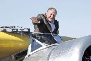 Pilot soars in restored vintage plane