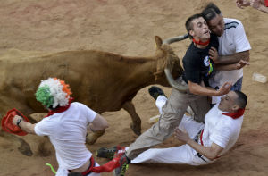 Photos: More gory tales from the running of the bulls
