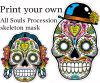 Print your own skeleton mask