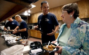 Recovering stroke patient treats medics to dinner
