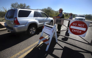 Shutdown effects in Tucson