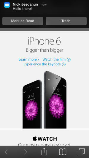 Apple's iOS 8 software has lots of new functionality