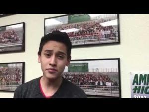 """Amphi HS senior sings """"Me gustas mucho"""""""
