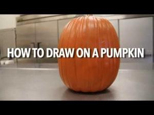 Draw your own pumpkin monster