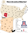 Where Arizona Wildcats alumni live