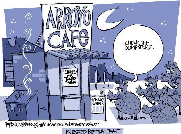 Daily Fitz Cartoon: Thanksgiving